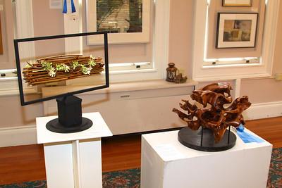 """Art In Bloom  Carolee Parkard  Aptuxet Garden Club Art Work  """"Birch Driftwood"""" Artist  David Bohl"""