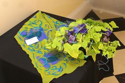 Art In Bloom  Pat Parker  Plymouth Garden Club Art Work  Hand Felted Shawl Artist Tina Watson