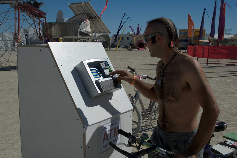 The playa ATM was brought out by Brad Templeton.