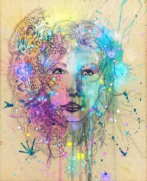 Scheele, Cameron - 2013<br /> Pen / Watercolor