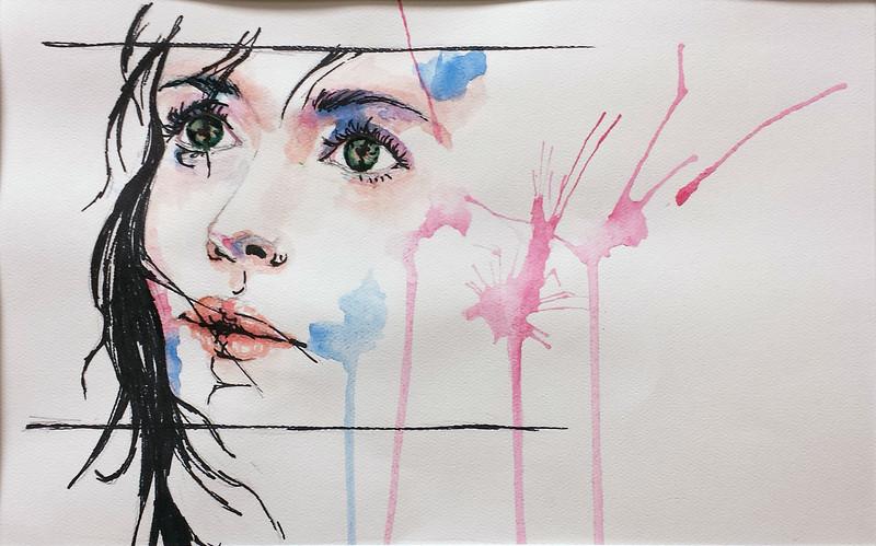 Scheele, Cameron - 2013<br /> Watercolor, 8x12