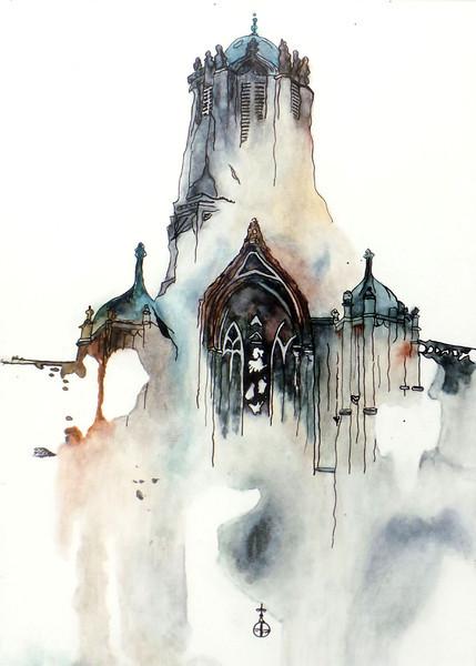 Holley, Pre'sha - 2014<br /> Ink Pen / Watercolor, 7x10