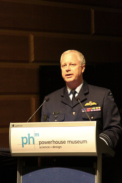 Air Marshall  Mark Binskin AO delivering the 2011 Authur Butler Memorial Lecture on the 90th Anniversary of the RAAF.