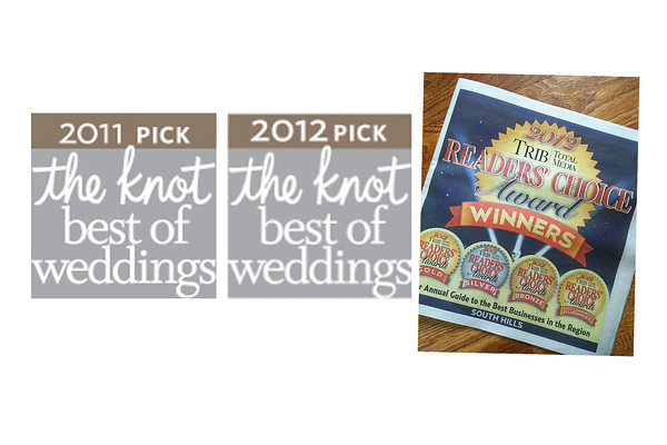 <B>Awards:</B>  2011 - The Knot 2012 - The Knot 2012 - Trib's Readers' Choice Regional Award - Bronze 2013 - The Knot