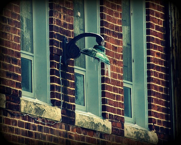 The old Fairmount High School in Fairmount, Indiana where James Dean graduated from...