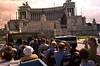 Crowd of senior Italian tourists visiting a easily recognizable monument in Italy. They are clearly on a tour.<br /> <br /> Choice 6 of 18<br /> <br /> Rome, Italy --- View of Rome from double decker bus tour of city. --- Image by © Bob Krist/Corbis