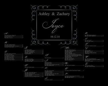Ashley & Zach-Seating Chart