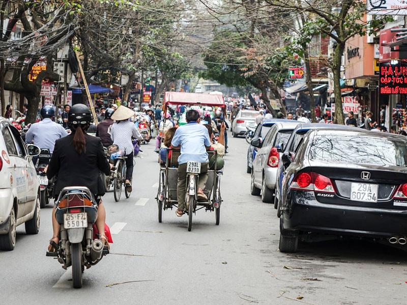 HANOI'S CRAZY STREETS.