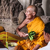 MONK AT ANGKOR WAT.