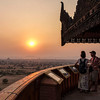 Bagan's Aureum Palace Resort boasts the most gorgeous tower, from which to see the sunset, and also to have a drink at their bar. Down below on every corner are Stupas.