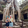 TA PROHM, or the Jungle Temple. Trees entertained with the Monastery. Fabulous!