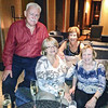 Julie Munro, a dear friend of Bev Jackson, comes to dinner with us at the hotel! With Ina, Mario and Joan!