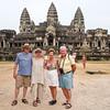 BOB, SHARON, JOAN AND MARIO, ANGKOR WAT, CAMBODIA.