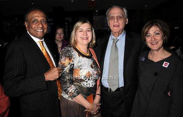 Ravi Akhoury, Ginny Akhoury, Donald Rubin, Joan Mirviss<br /> photo by Rob Rich © 2010 robwayne1@aol.com 516-676-3939