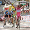 """Chapter 10 Addition, Giro d'Italia Winner in pink jersey--if you would like something without the pink jerseys--let me know. Often the """"winner"""" was not the guy wearing the pink jersey. He would receive the pink jersey after he crossed the line at the winner's ceremony.<br /> <br /> Choice 4 of 10<br /> <br /> epa03232057 Spanish cyclist Joaquin Rodriguez of team Katusha wearing the overall leader's pink jersey celebrates while crossing the finish line to win the 17th stage of the Giro d'Italia cyclingn tour, over 186km from Falzes to Cortina d'Ampezzo, Italy, 23 May 2012.  EPA/SABINE JACOB (Newscom TagID: epaphotos412170) [Photo via Newscom]"""