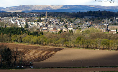 Brechin from the south.  3.30pm, 01/05/13