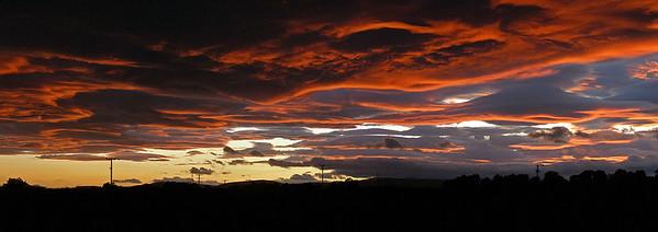 Angus sunset.  9.45pm, 24/07/11