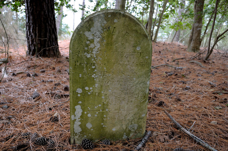 The only tombstone left on Assateague Island (Maryland anyway). Emma Truitt died at the age of 16, was married for a couple months before her death on December 12 1874.