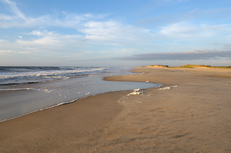 Looking into the northern end of the Virginia section of Assateague, Wed 9/07  Soon be time to start hiking again......