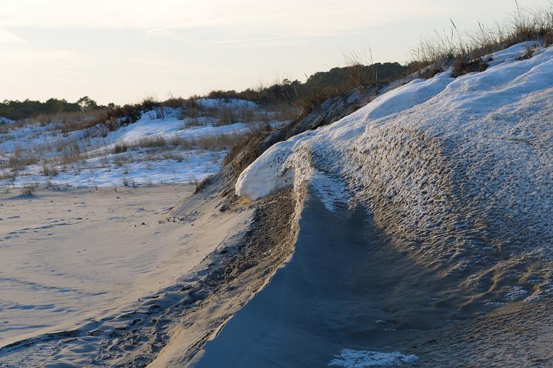 Snow on the dunes