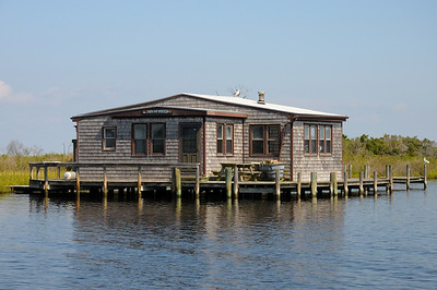 Bill Purnell's oyster guard house on Popes Island.