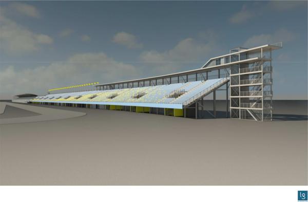 Haarbocht grandstand, front view