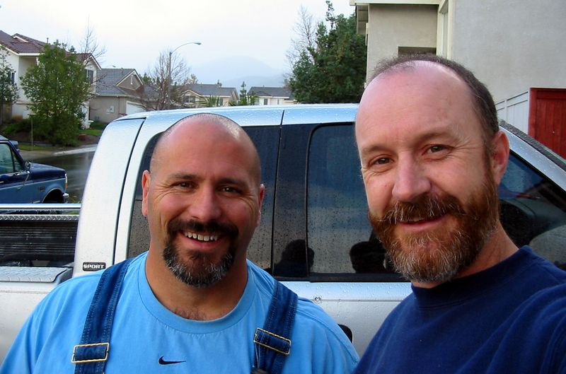 "Me and Mark.  I'm the one with ""The World's Worst Beard"".<br /> BFD (Blue Ford Diesel) on left side of the picture."
