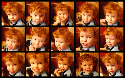 The many faces of a 2-year-old.