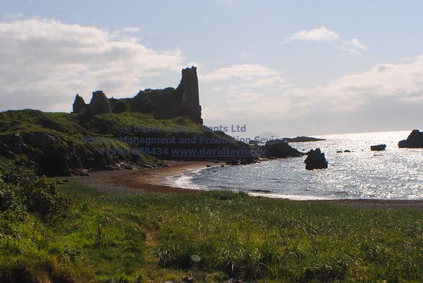 Dunure Harbour castle and cliffs NR Ayr - 05