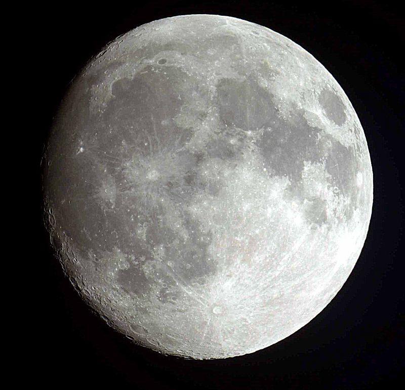 Very nice nearly Full Moon.