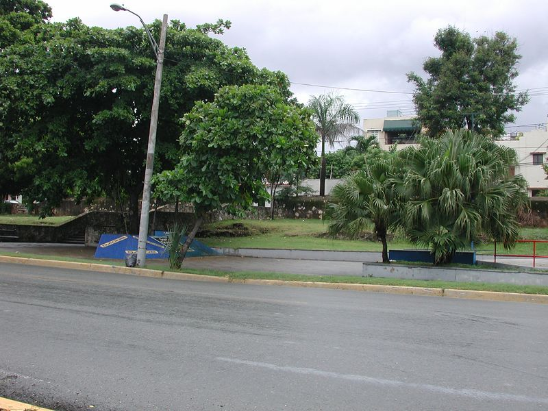 This is an image of a skate park in downtown Santa Domingo.