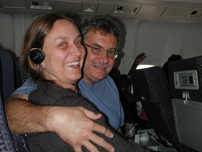 Adele and Al, on the plane. (Photo by Stormie.)