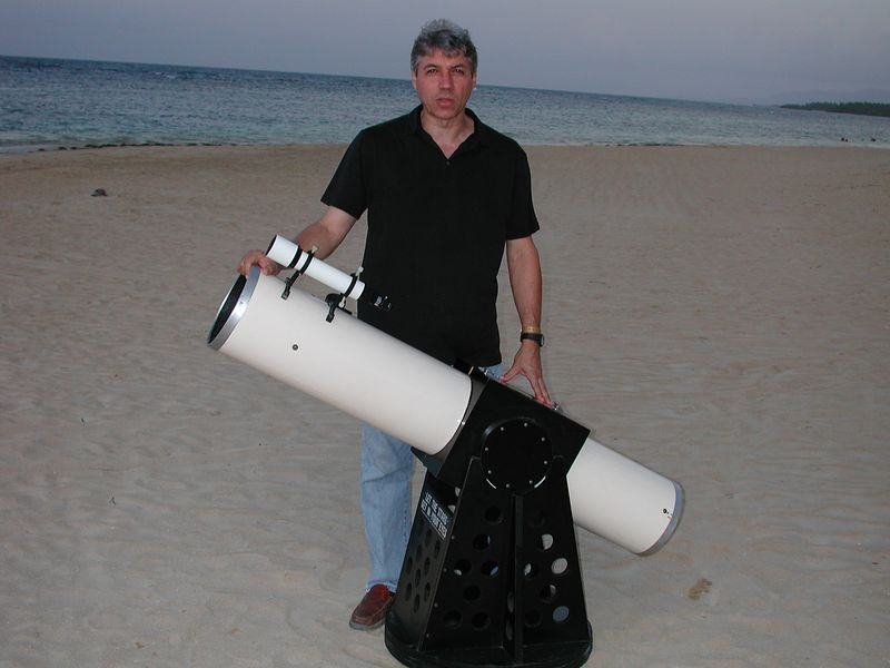 Eric Ramos Dominican Republic and his 8 inch Dobsonian