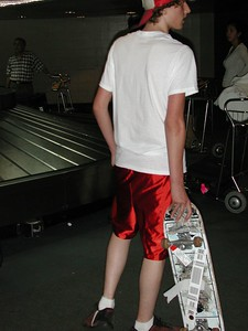 ...Can you believe Josh took his skate board on this trip!!!