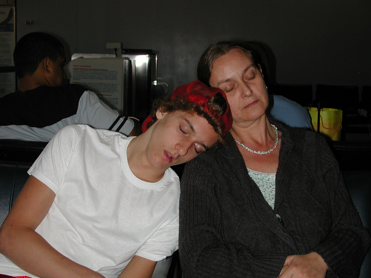 Sleepy Josh & Mom.