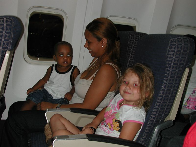 Stormie sat next to these people on the way back home on the Delta Flight 542 to New York.