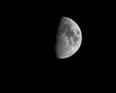 Half-moon.  500mm lens f/8.