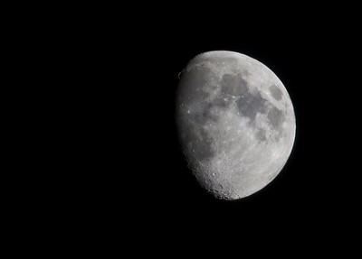 Gibbous moon.  500mm lens f/8