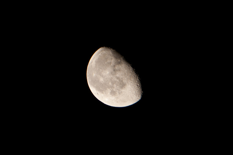 Moon (Small Meade telescope with handheld Canon Rebel XTi)