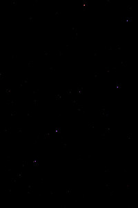 Ursa Major, The Plough or Big Dipper.  An attempt to show the true colours of the stars.  Alcor and Mizar (visual double star) show up well but the colours are off because they are A stars!
