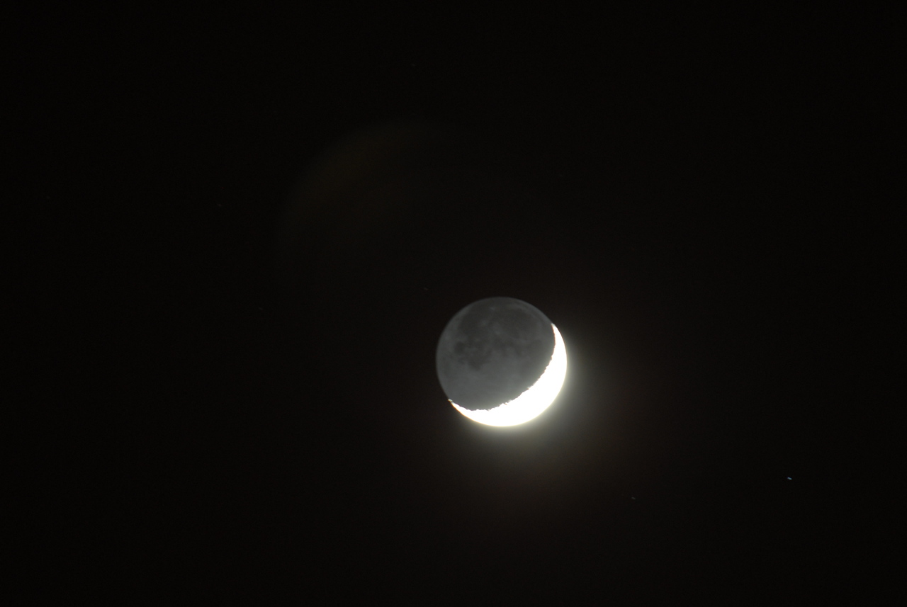 The moon photographed with my Nikon DSLR on Saturday 8th January 2011