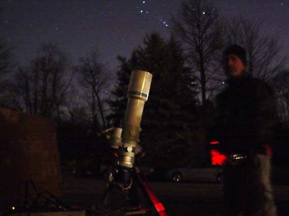 Me and my Tak out under the stars with Orion watching over us.