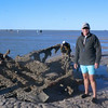 Out at the flying boat wrecks. It was a 1km walk from the beach through muddy sand to get there but worth the effort