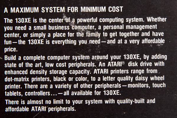 Atari 130 specification