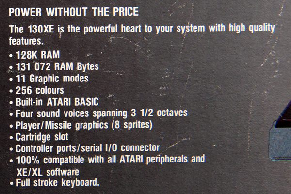 Atari 130 XE specifications