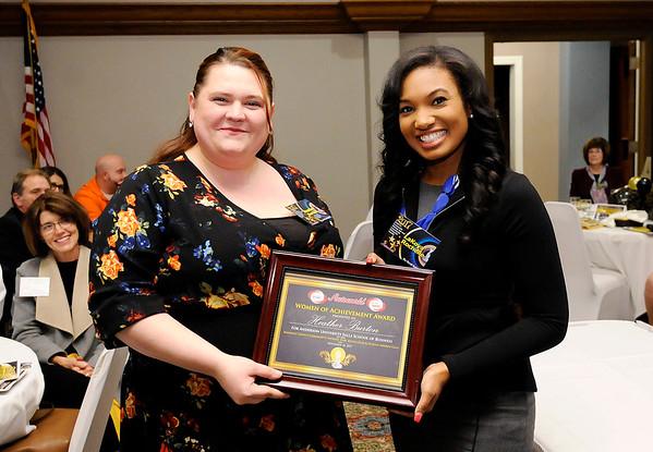 Don Knight |  The Herald Bulletin<br /> Heather Burton received a Women of Achievement Scholarship.
