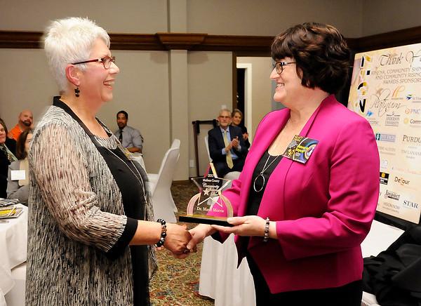 Don Knight |  The Herald Bulletin<br /> Community Shining Star winner Marie Morris.