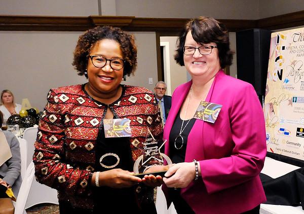 Don Knight |  The Herald Bulletin<br /> Community Shining Star winner Dr. Treva Bostic.