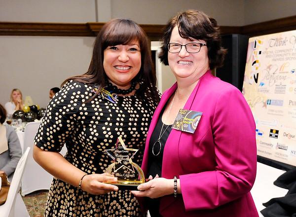 Don Knight |  The Herald Bulletin<br /> Community Shining Star winner Sonia Caldwell.