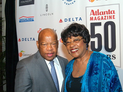 The Honorable Congressman, John Lewis and Singer, Maxine Reed.